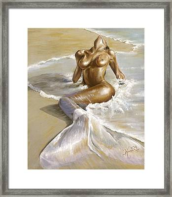 Mermaid Framed Print by Karina Llergo