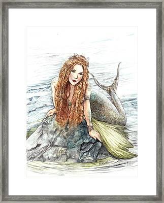 Mermaid Framed Print by Morgan Fitzsimons