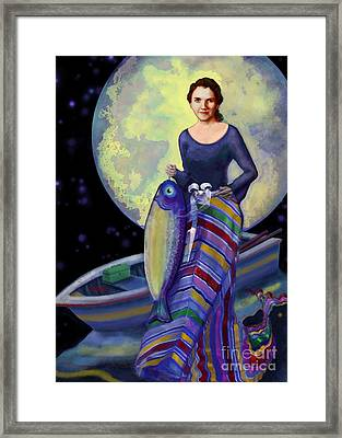 Mermaid Mother Framed Print by Carol Jacobs