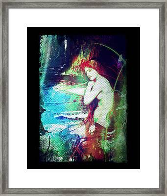 Mermaid Of The Tides Framed Print by Absinthe Art By Michelle LeAnn Scott