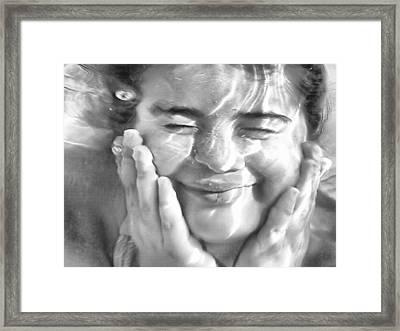 Mermaid Portrait Framed Print