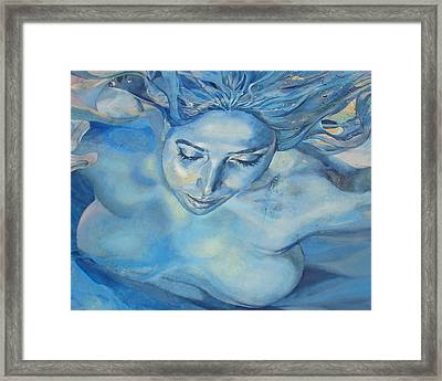 Mermaid Framed Print by Ramona Johnston