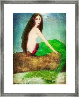 Mermaid  Framed Print by Sacred  Muse