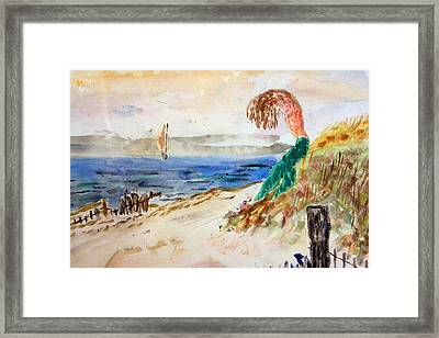 Mermaid Signalling Her Sailors Framed Print
