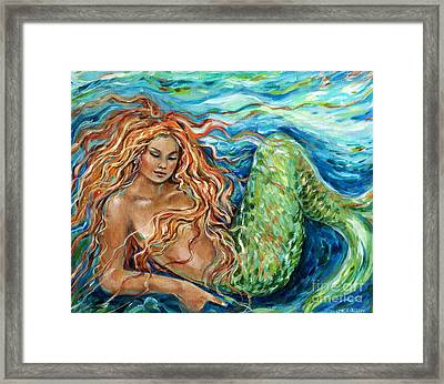 Mermaid Sleep New Framed Print by Linda Olsen
