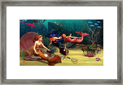 Mermaid Treasures Framed Print