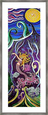 Mermaid Under The Sea Framed Print by Genevieve Esson