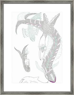 Mermaids And Sea Dragons Framed Print