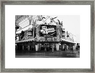 mermaids casino freemont street Las Vegas Nevada USA Framed Print