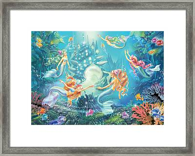 Mermaids Place Framed Print