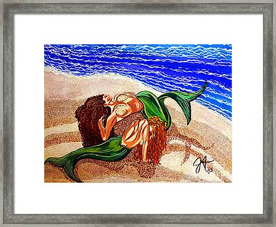 Framed Print featuring the painting Mermaids Spent Jackie Carpenter by Jackie Carpenter