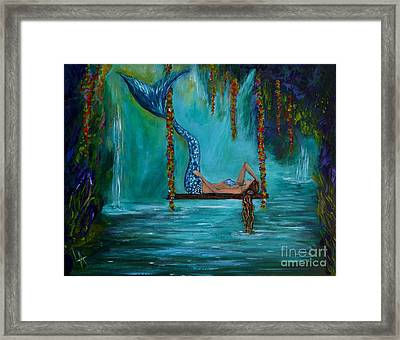 Mermaids Tranquility Framed Print