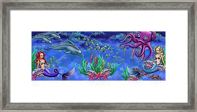 Mermaid's World Framed Print by Jenny Kirby