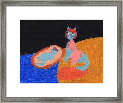 Merriam And Her Mother Framed Print by Frances Garry