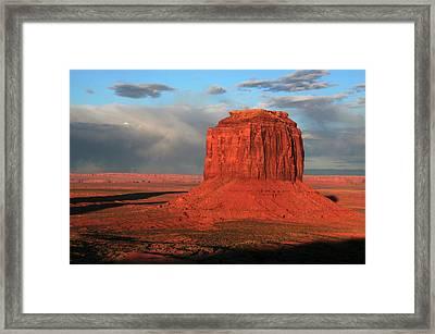 Merrick Butte At Sunset, Monument Framed Print by Michel Hersen