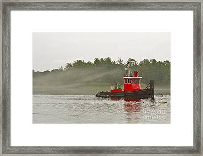 Framed Print featuring the photograph Merrimack Mist by Alice Mainville