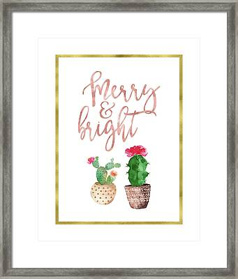 Merry And Bright Succulent Framed Print