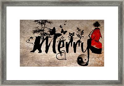 Merry Asian Theme Framed Print by Mindy Bench
