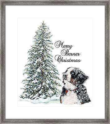 Merry Berner Christmas Framed Print