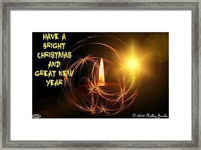 Merry Christmas 45 Framed Print