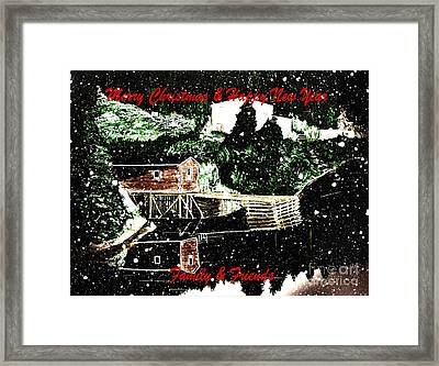 Merry Christmas And Happy New Year Framed Print by Barbara Griffin