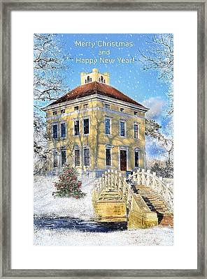Merry Christmas And Happy New Year Framed Print