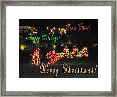 Merry Christmas Framed Print by Andy Za