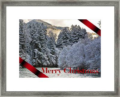 Merry Christmas Card Framed Print by Belinda Greb