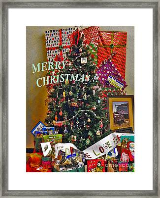 Framed Print featuring the photograph Merry Christmas Card Color by Gary Brandes