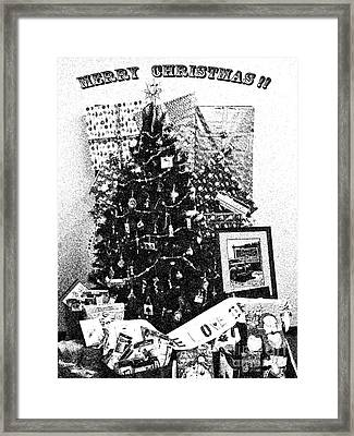 Framed Print featuring the photograph Merry Christmas Card by Gary Brandes