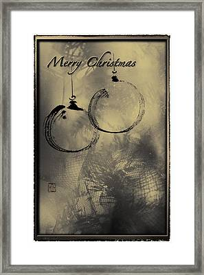 Framed Print featuring the mixed media Merry Christmas Card by Peter v Quenter