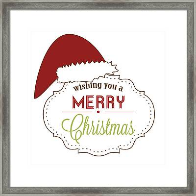 Merry Christmas Framed Print by Celestial Images