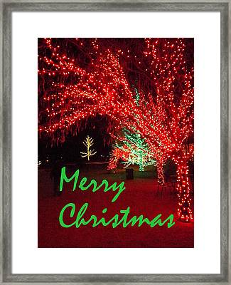 Merry Christmas Framed Print by Darren Robinson