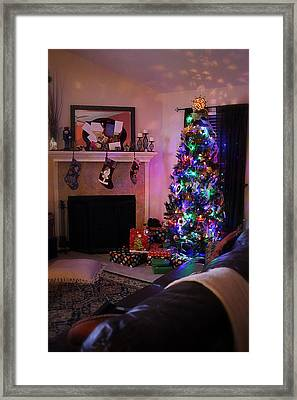 Framed Print featuring the photograph Merry Christmas From My Home To Yours by Trish Mistric