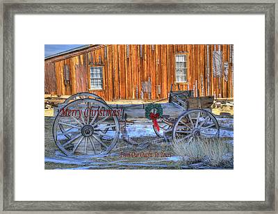 Merry Christmas From Our Outfit To Yours  Framed Print