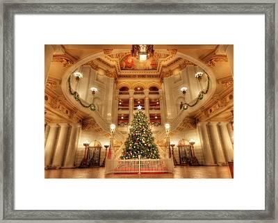 Merry Christmas From Pennsylvania Framed Print