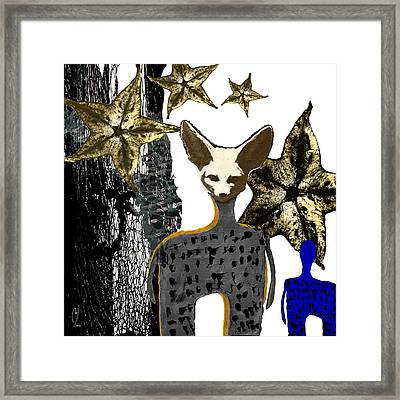Merry Christmas From The Little Creatures Framed Print