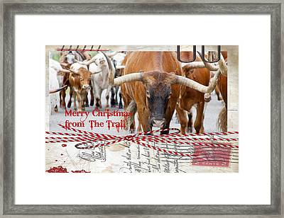 Merry Christmas From The Trail Framed Print