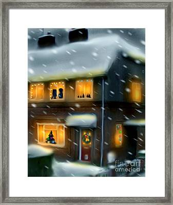 Merry Christmas From The Warwicks Framed Print