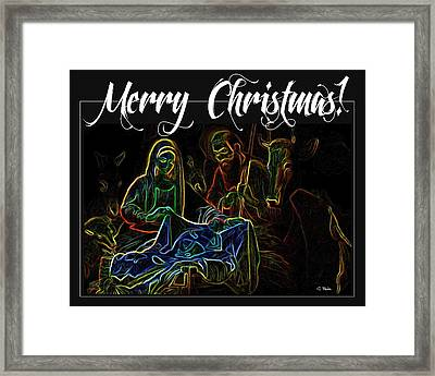 Merry Christmas Framed Print by George Pedro