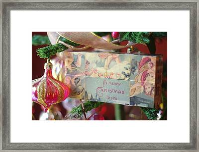 Framed Print featuring the photograph Merry Christmas Greeting by Suzanne Powers