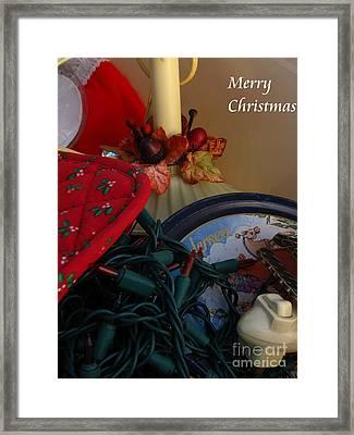 Merry Christmas Framed Print by Greg Patzer