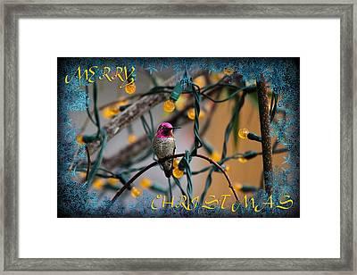 Merry Christmas Hummer Framed Print