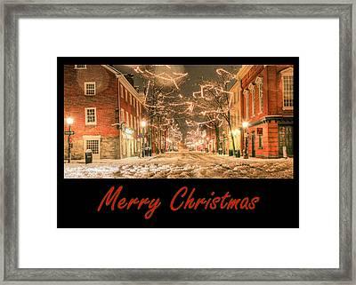 Merry Christmas Framed Print