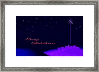 Merry Christmas Misty Bethlehem Star Nativity Landscape II Framed Print