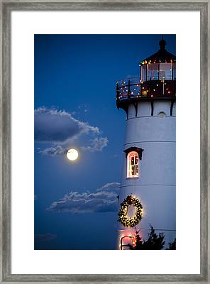 Merry Christmas Moon Framed Print