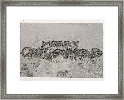 Merry Christmas Framed Print by Ron Sanford