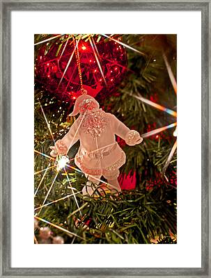 Merry Christmas - Santa Ornament 001 Framed Print