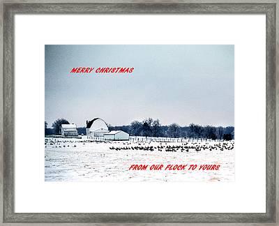 Merry Christmas Framed Print by Skip Willits