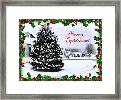 Merry Christmas Framed Print by Skyler Tipton